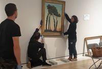 """Accrochage de """"Paysage avec des arbres"""" de Félix Vallotton à la Royal Academy of Arts de Londres"""