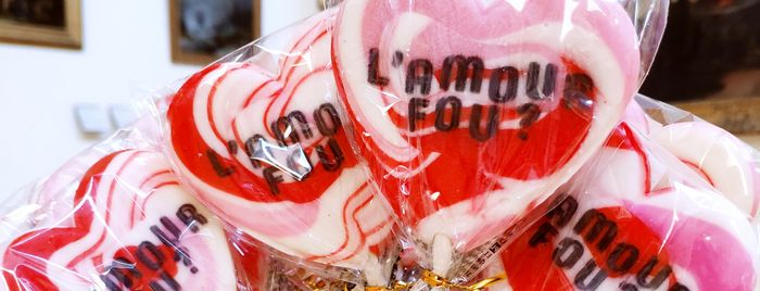 Sucettes cœur rose Amour fou ?