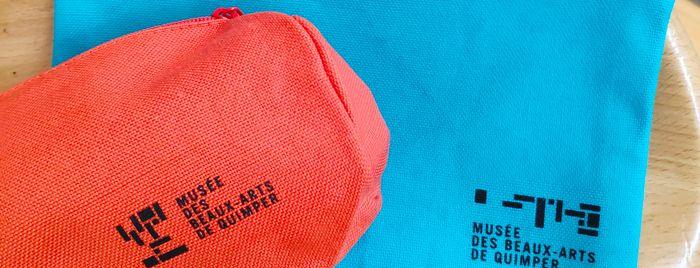 Trousse modèle rectangle ou écolier, 100 % coton biologique extérieur et doublure, couleurs assorties, 4.90 €