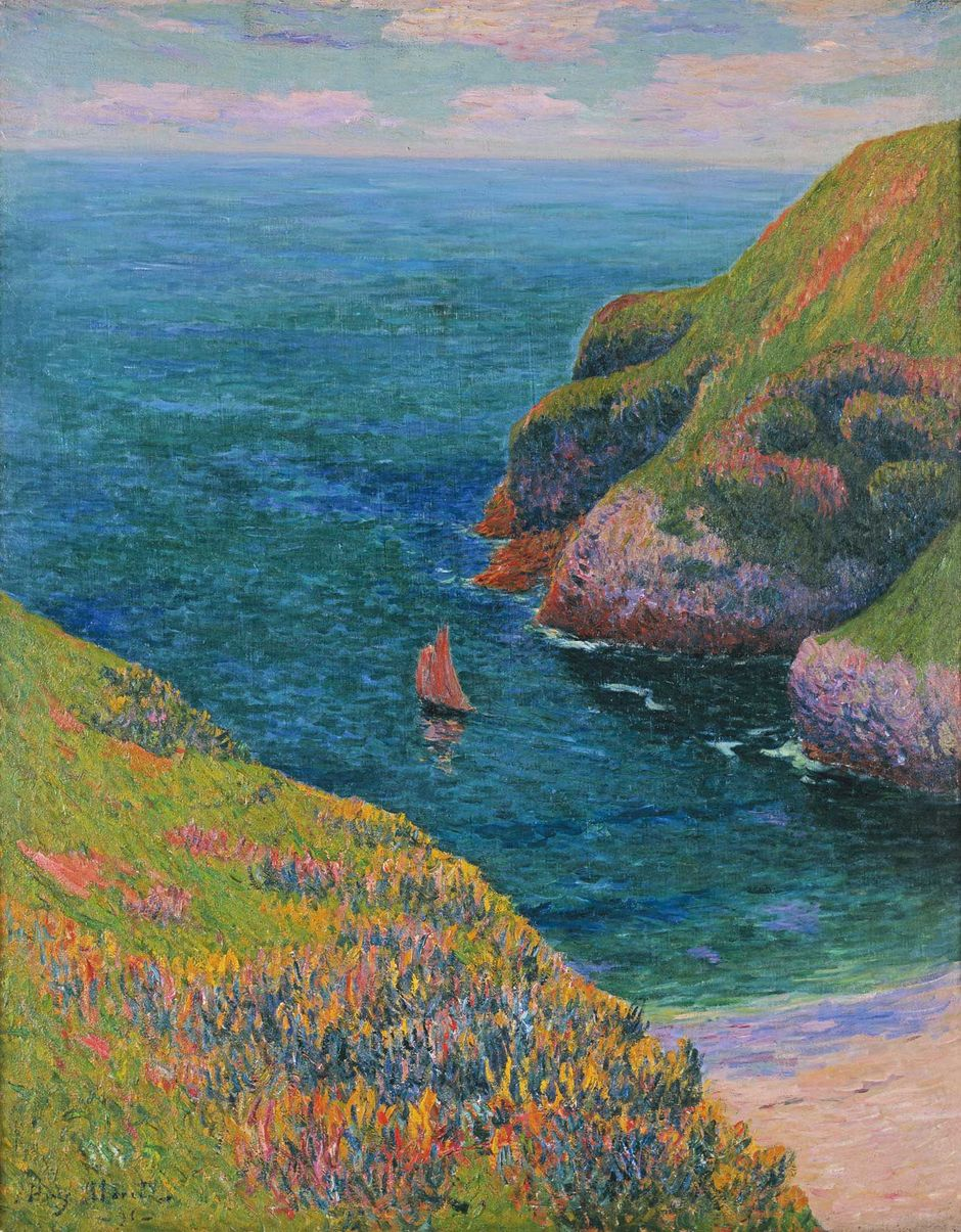 Henry Moret_Goulphar Belle-Ile (See the caption hereafter)