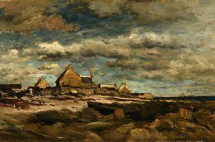Charles-François Daubigny (1817-1878) - Entrée de Kérity. 1871 - huile sur toile - Reims, Musée des Beaux-Arts © Photo : C. Devleeschauwer