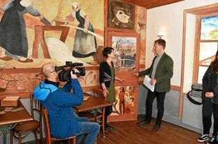 Tournage d'un documentaire à la maison-musée du Pouldu © Le Télégramme