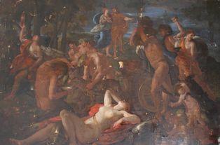 """""""Bacchus et Ariane à Naxos"""" par Sébastien Bourdon en cours de restauration"""