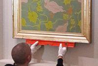 """Paul Ranson """"Les Canards"""" en cours d'accrochage au musée du Luxembourg"""
