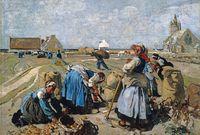 Lucien Simon-La Récolte des pommes de terre