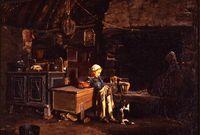 Jean-Marie Villard (1828-1899) - Intérieur breton, 1870 - Huile sur toile, 53.5 x 67.5 cm - Musée des beaux-arts de Quimper © Musée des beaux-arts de Quimper