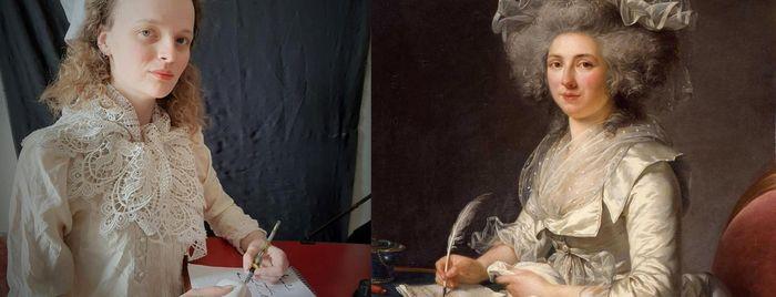 """Adélaïde Labille-Guiard """"Portrait de femme"""" revisité © Soizic"""