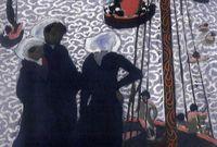 """Maurice Denis (1870-1943) -""""Régates à Perros-Guirec"""", 1892 - Huile sur carton, 41 x 32 cm - Dépôt du musée d'Orsay, Paris, au Musée des beaux-arts de Quimper"""