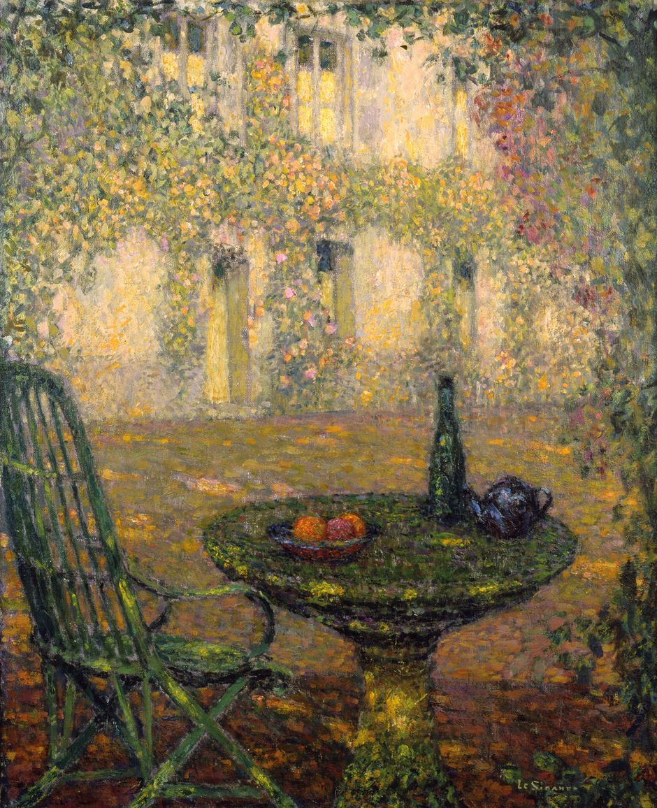 Henri Le Sidaner (1862-1939) - La Table et la maison, Gerberoy, 1935 - Huile sur toile, 73 x 60 cm - Singer Museum © Singer Laren (See the caption hereafter)