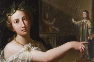 Anonyme italien - Allégorie de la peinture - Huile sur bois, 83 x 63 cm - musée des beaux-arts de Quimper © C2RMF / Thomas Clot
