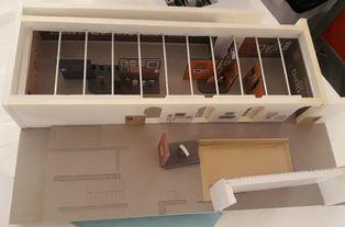 Maquette de la scénographie de l'exposition Raoul Dufy par Eric Morin
