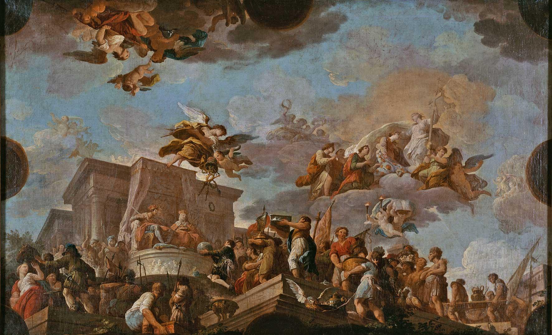 Gonzalez Velasquez Christophe Colomb Offant Le Nouveau Monde Aux Rois Catholiques Musee Des Beaux Arts De La Ville De Quimper