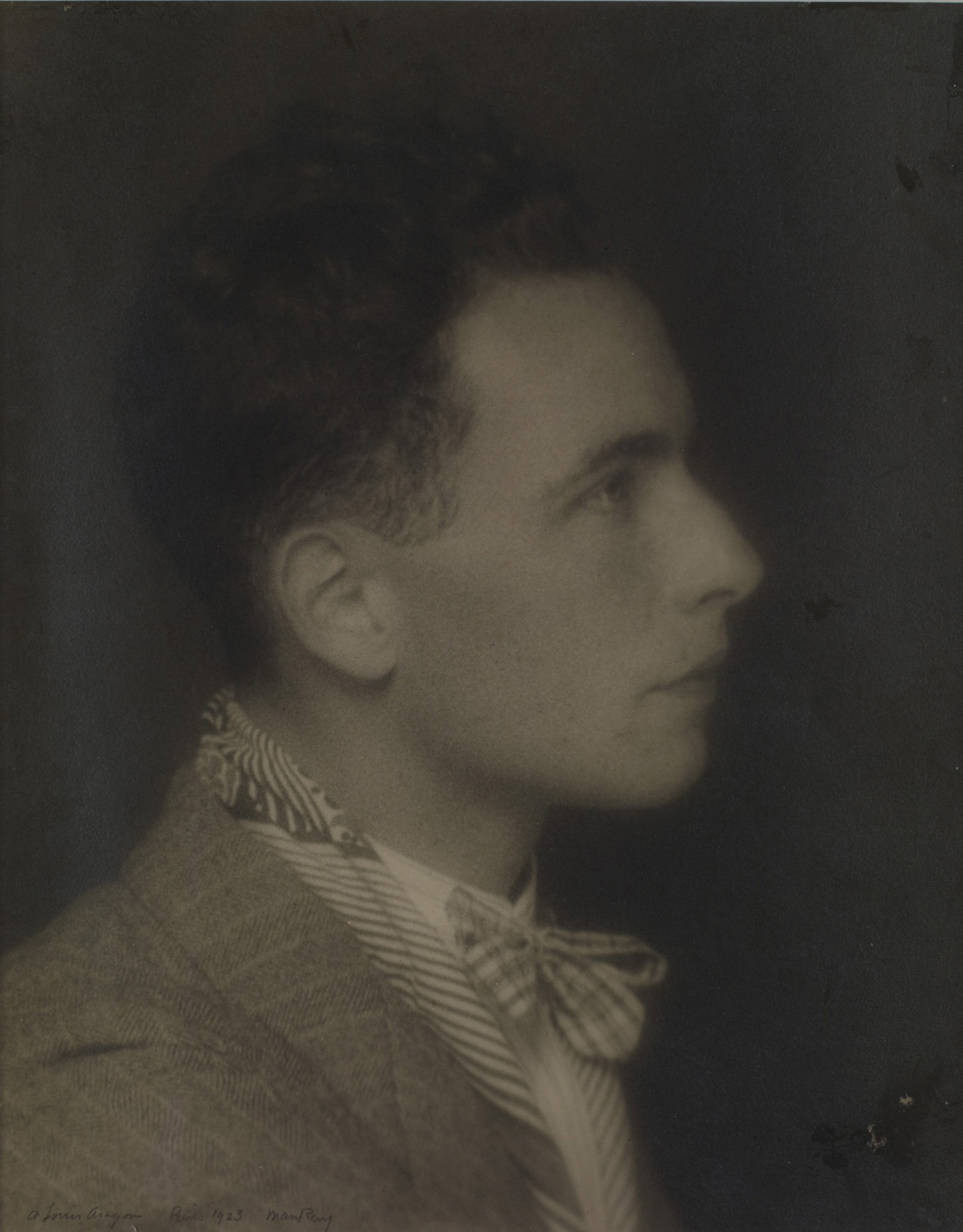 "Man Ray 'Louis Aragon"", 1923 - Collection privée © courtesy Association Internationale Man Ray - Adagp, Paris, 2020 (Voir légende ci-après)"